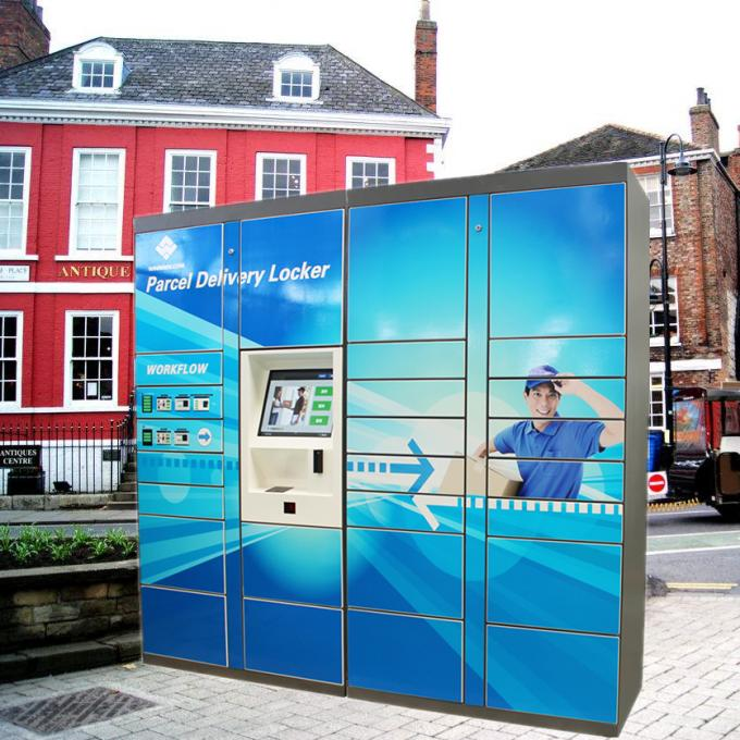 Smart Digital Post Parcel Delivery Box Logistic Package Locker Systems With Mixed Door Sizes