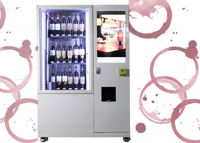 Hotel Belt Conveyor Bottle Wine Vending Machine With Elevator System In Public Place
