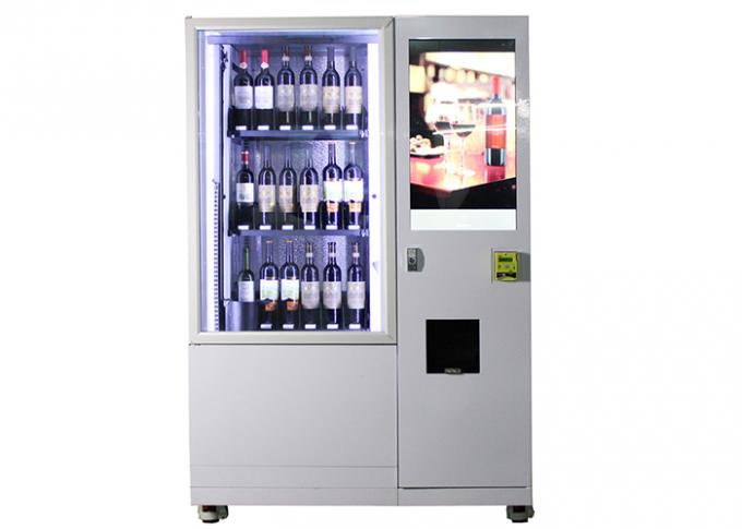 Automatic Smart Multimedia Wine Vending Machine With Elevator System , Juice Beer Vending Kiosk