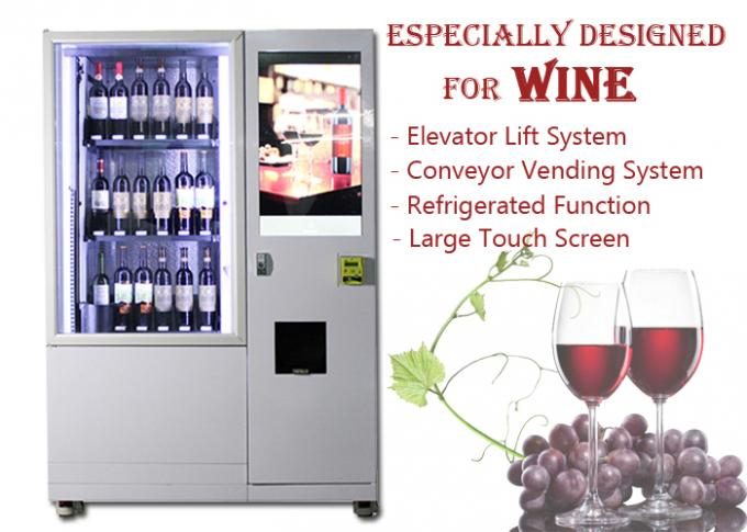 Glass Bottle Wine Vending Machine With Lift And Conveyor System For High-end Hotel Restaurant
