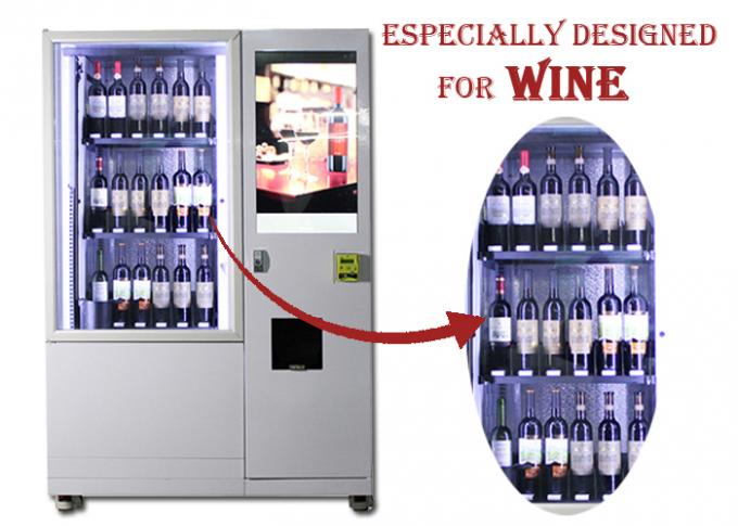 Luxury Elevator Wine Vending Machine With Large Advertising Screen Remote Control System