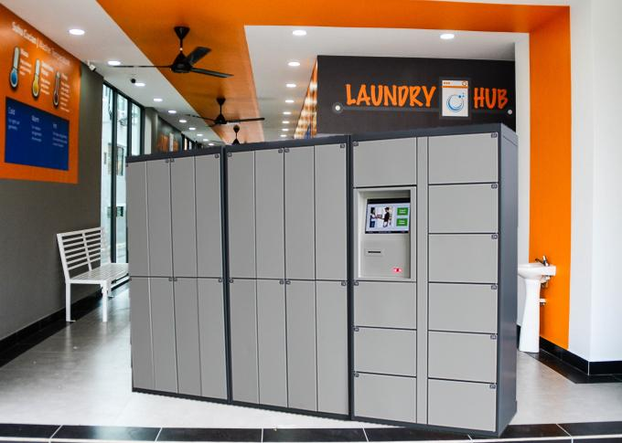 24 Hours Intelligent Smart Electronic Dry Cleaning Locker Systems with Touch Screen