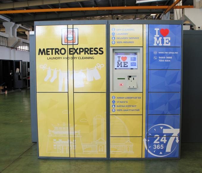 customized size electronic barcode laundry locker for dry