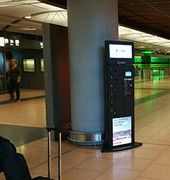 6 Secured Electronic Lockers Cell Phone Charging Kiosks for Airport / Train Station / Bus Station