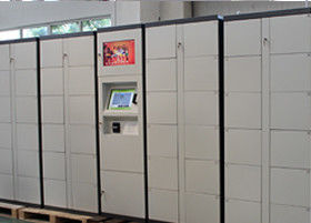 Deposit Rental Industry Computer Luggage Lockers with 15 inch Touch Screen