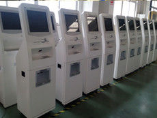 Multimedia Smart Touch Screen Self Service Kiosks with A4 Size Paper Laser Printer