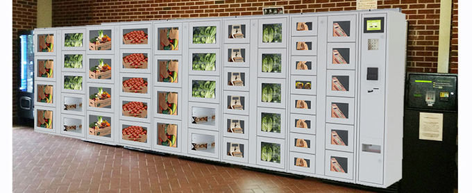 Coin Banknote Payment Vending Lockers With Secured