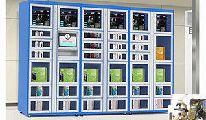 24 Hours Electronic Touch Screen Vending Lockers with Coin / Banknote / Card Payment