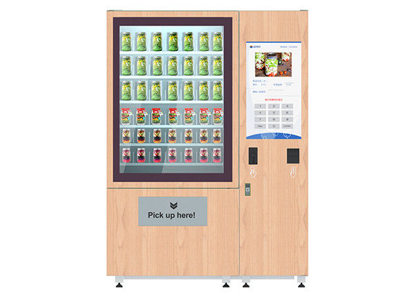 Advanced health salad vending machine with lift system and remote control function